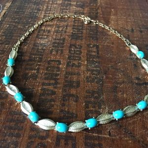 Vintage turquoise & gold necklace